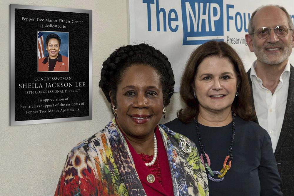 Dedication of the Congresswoman Sheila Jackson Lee Pepper Tree Manor Fitness Center